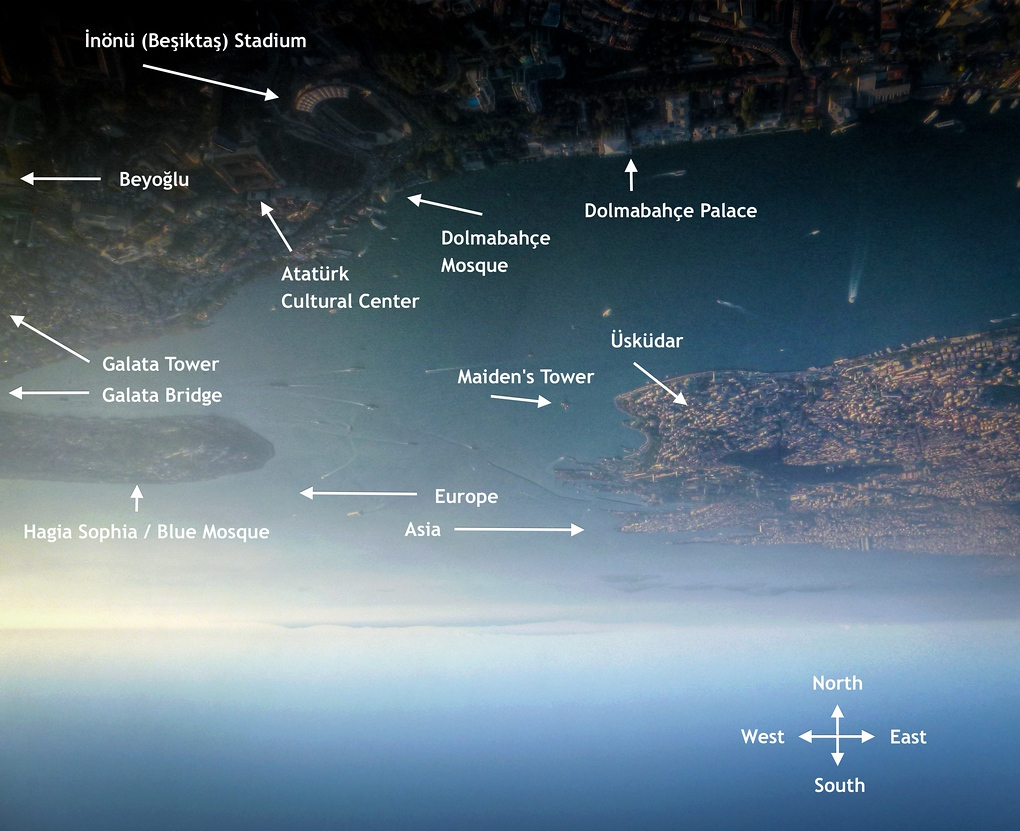 This Photo From Above Shows The Landmarks To Look Out For When Flying Into Istanbul