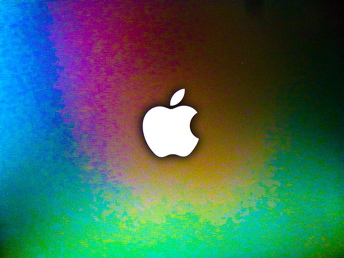 colorful apple logo