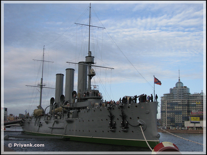aurora warship st. petersburg - priyank