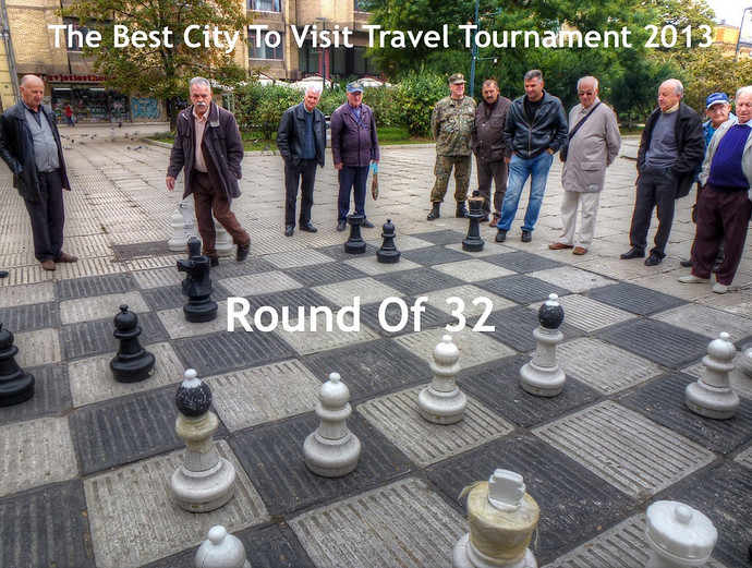 the best city to visit travel tournament 2013 round of 32