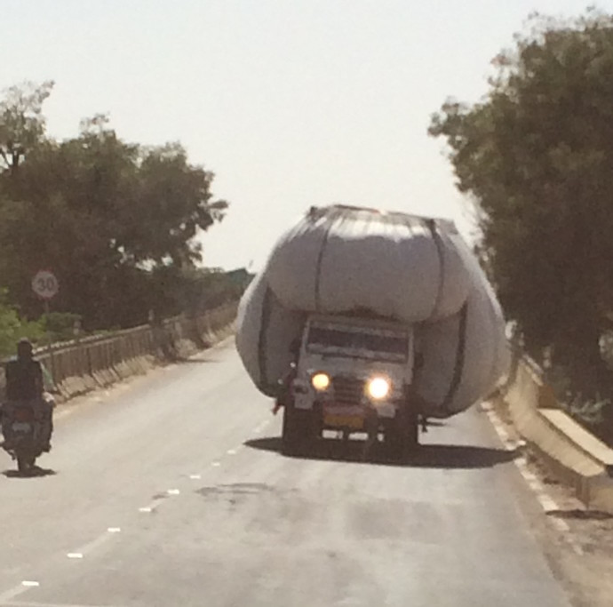 indian overloaded truck