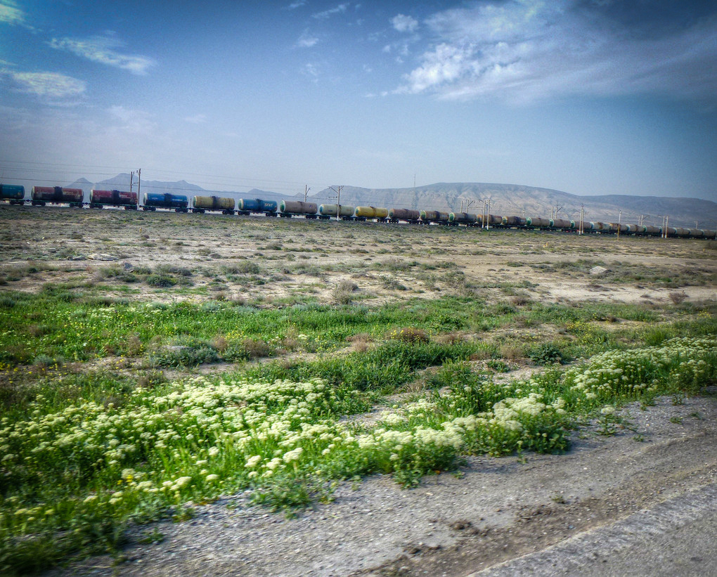 azeri oil cargo train